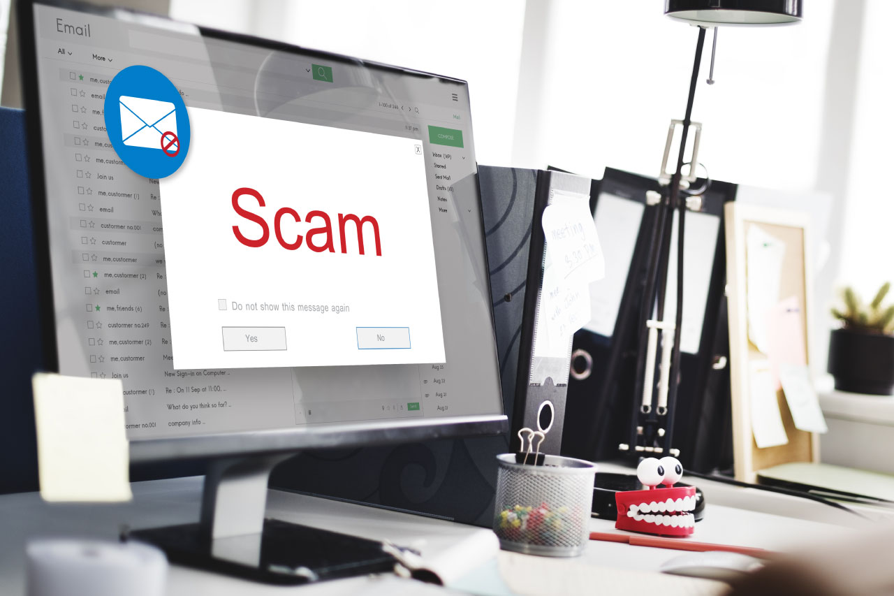 email scam background